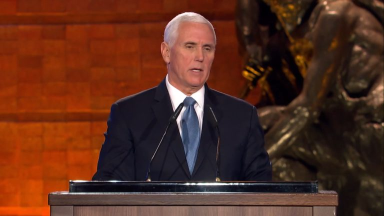 Speech by US Vice President Mike Pence at the Fifth World Holocaust Forum